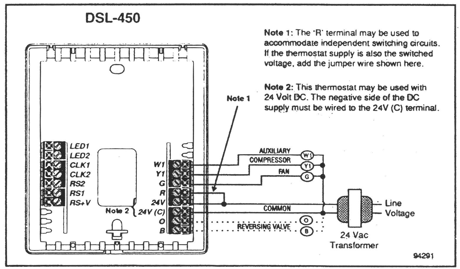 Lennox dsl 450 lx thermostat manual for Th 450 termostato